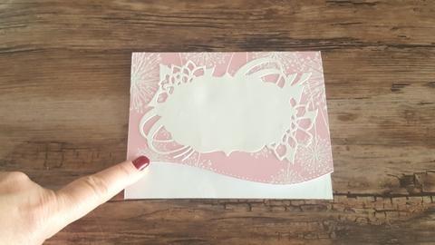 Matty's Crafting Joy Decorative Label Die Cut, Nesting Dies, Shaker Card