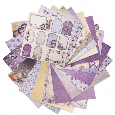 Lavender Bliss cardstock paper pad, patterned paper, heavyweight cardstock, designer paper, Matty's Crafting Joy