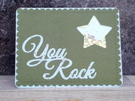 Sentiment die cuts, words dies, making cards, scrapbooking. thinking of you, you rock