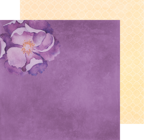 Lavender Bliss paper, double sided 12X12 cardstock, purple scrapbook paper