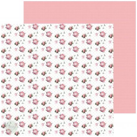 Pink Floral Cardstock - 10 Pack