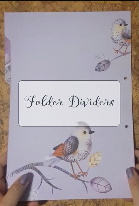 DIY Folder Dividers