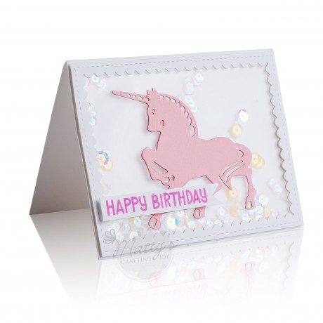 unicorn cutting die, animals metal dies, scrapbooking, card making